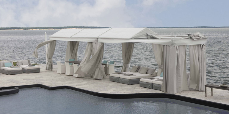 Cuscini Outdoor.Cuscini Collection Outdoor Cabanas By Shadescapes America Pools