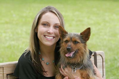 bigstock_Woman_And_Dog_In_T