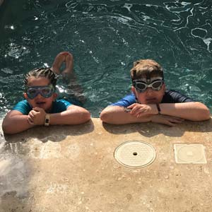 Giggly Goggles, a new line of swim goggles are sure to be a hit in the backyard this summer.