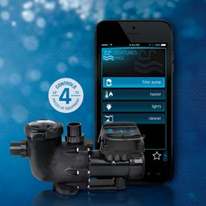 Installing smart pool control does not need to be a hassle. Energy-efficient VS Omni pumps by Hayward® offer smart control for up to four products on a typical pool pad.