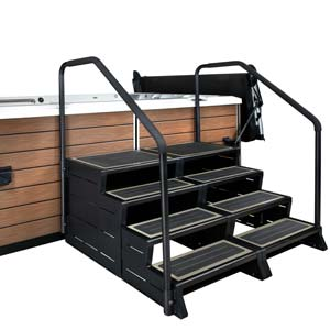 Leisure Concepts has created an expandable, modular step series for hot tubs called the ModStep.