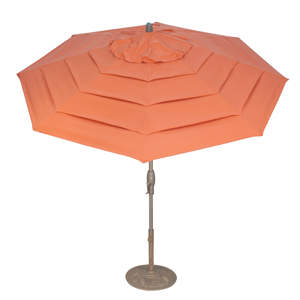 The Milan, Treasure Garden's latest outdoor umbrella design, takes inspiration from the designer runways of Europe from which it takes its name.