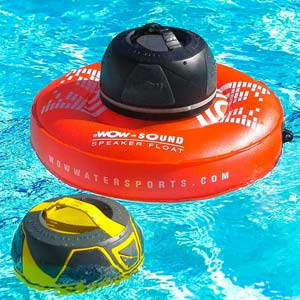 Bring the music into the pool with this waterproof, shockproof, and dust-proof Wow-Sound Bluetooth-enabled speaker