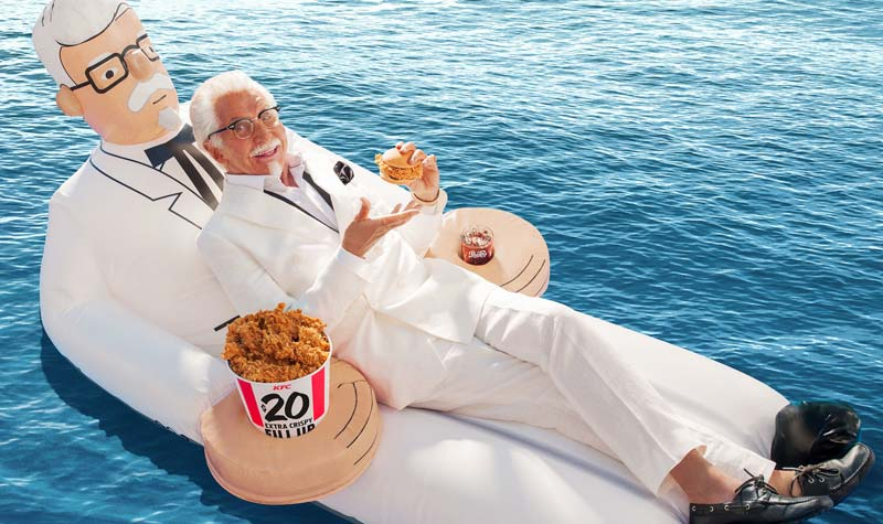 Will the limited-edition KFC Colonel floatie be this summer's must-have pool float?