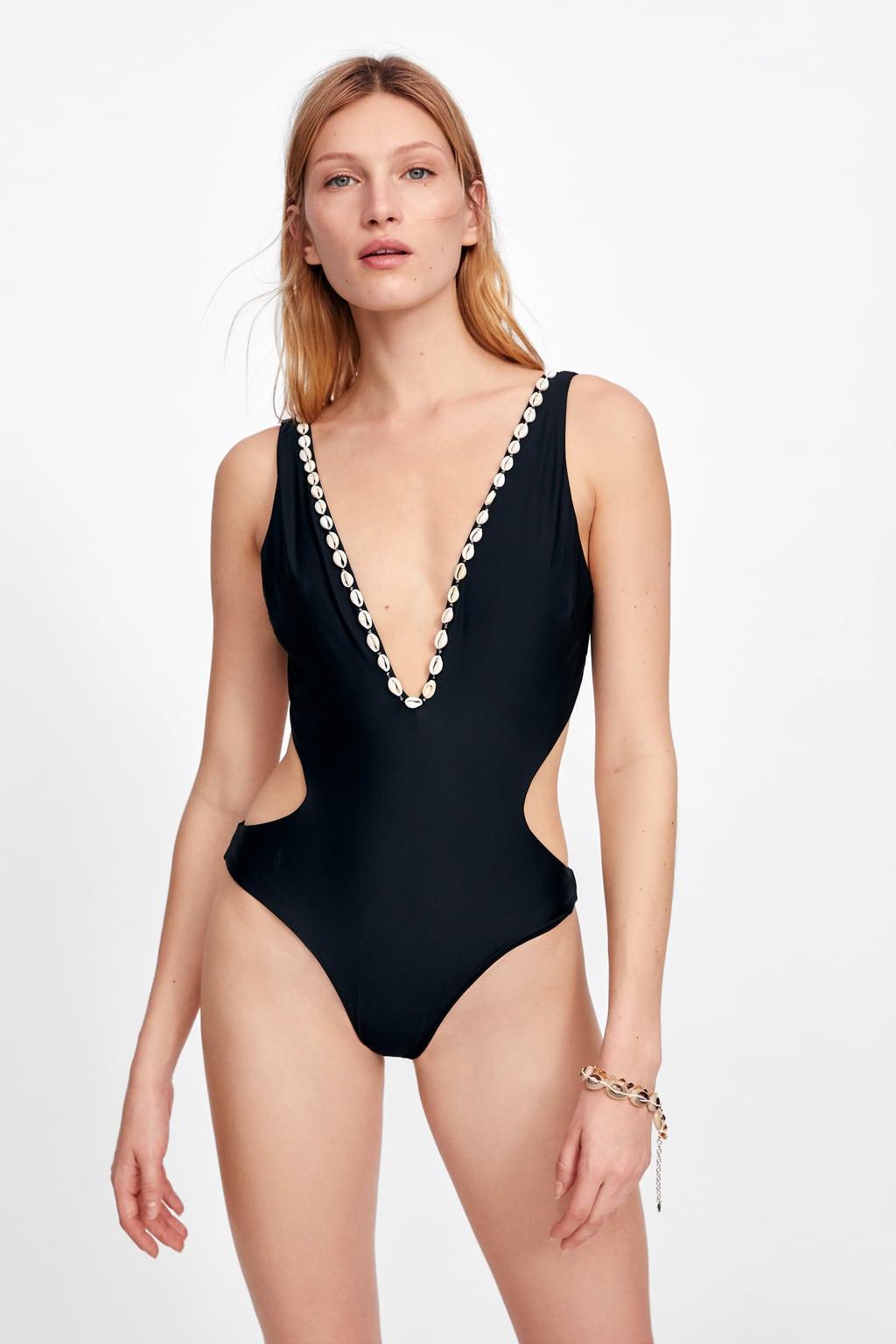 The One-Piece: Seashell Trikini, $46, zara.com