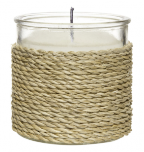 Braided Straw and Glass Candle, $17, bouclair.com