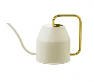 VATTENKRASSE Watering can, ivory, gold-colour, $15, ikea.com
