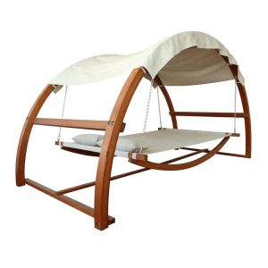 Leisure Season SBWC402 Swing Bed with Canopy, $732, lowes.ca