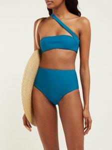Assymetrical: Jade Swim Halo One-Strap Bikini Top, $127, matchesfashion.com