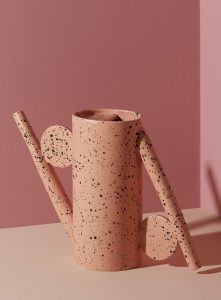YYY Flecked stoneware decorative watering can, $245, simons.ca