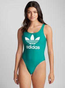 Sporty: Adidas Originals Trefoil Emerald One-Piece, $60, simons.ca