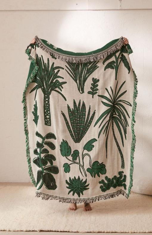 Calhoun & Co. Plants! Throw Blanket, $129, urbanoutfitters.com