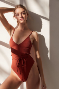 The One-Piece: Out From Under Wrap-Front One-Piece Swimsuit, $84, urbanoutfitters.com