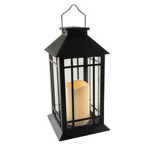 Camila Solar 1-Light Outdoor Hanging Lantern with LED Candle, $45, wayfair.ca