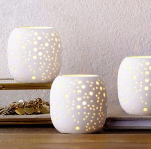 Pierced Porcelain Tealights Constellation, $13, westelm.ca