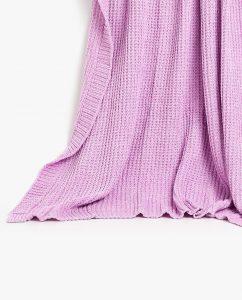 Chenille Embossed Knitted Blanket, $80, zarahome.com