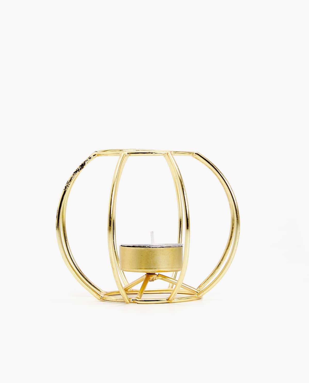 Gold Frame Tealight Holder, $20, zarahome.com