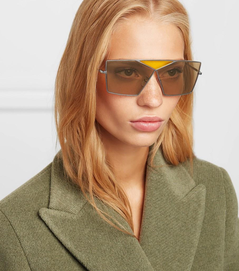 Geometric: Loewe Puzzle Large Aviator-Style Gunmetal-Tone Sunglasses, $390, net-a-porter.com