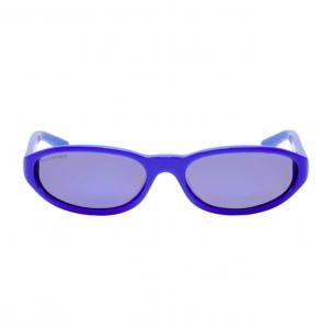 Pop of Colour: Balenciaga Blue Neo Sunglasses, $425, ssense.com