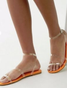 Strappy: Clear Vinyl Strap Sandals, $20, forever21.com