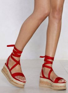 Heeled: Enough With the Cork Platform Sandals, $90, nastygal.com