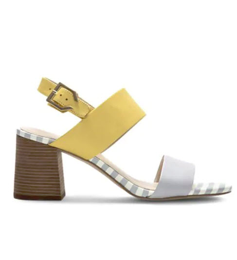 Heeled: Cole Haan Avani City Leather Heeled Sandals, $200, thebay.com