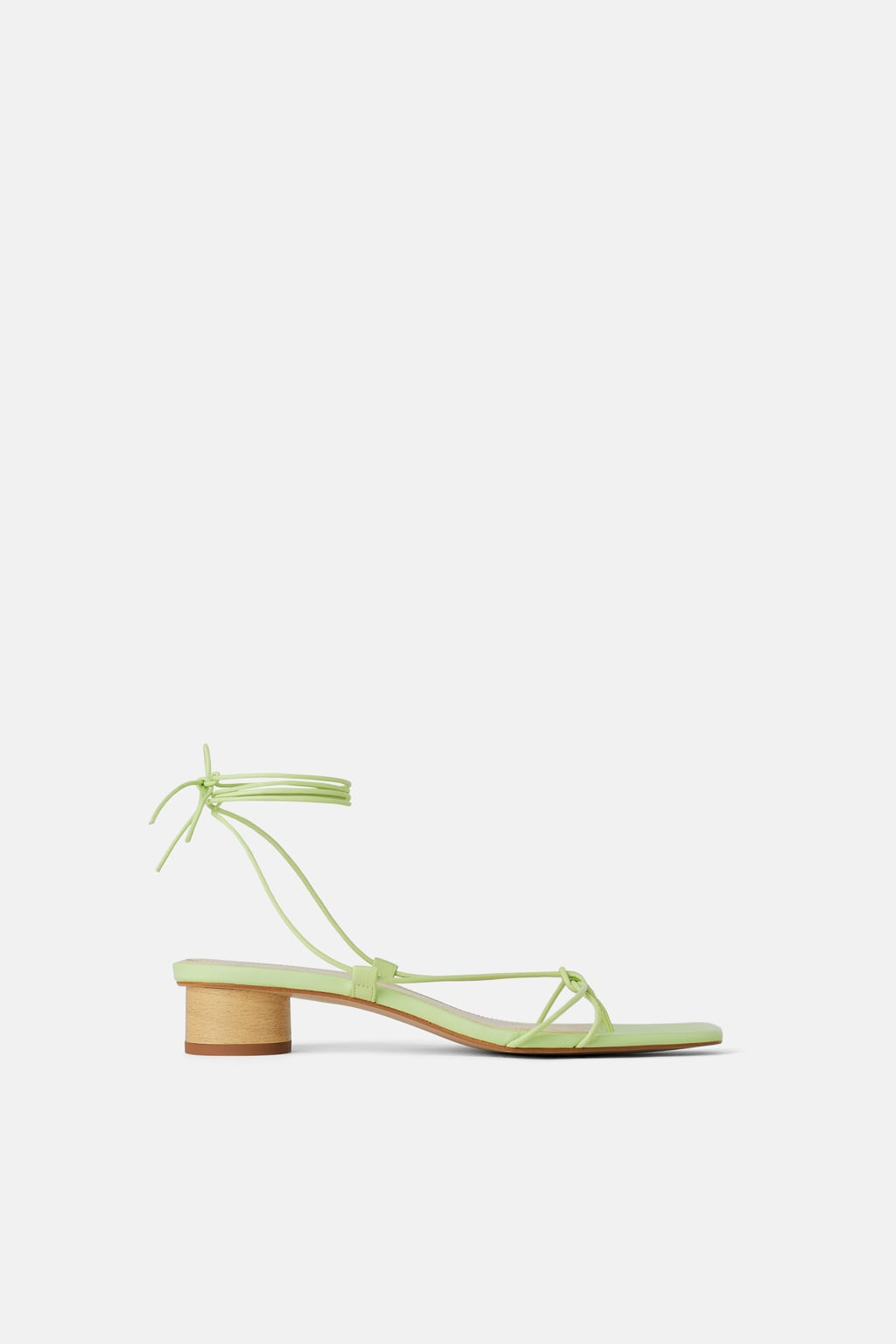 Strappy: Heeled Leather Sandals With Thin Straps, $80, zara.com
