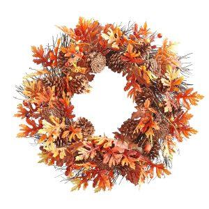 Fall Leaves & Pinecones Wreath, $22. pier1.com
