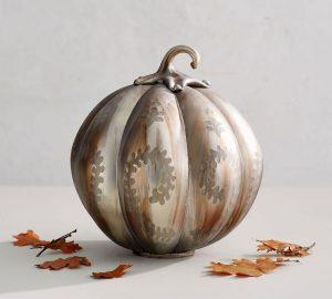 Oxidized Silver Pumpkin, $91, potterybarn.ca