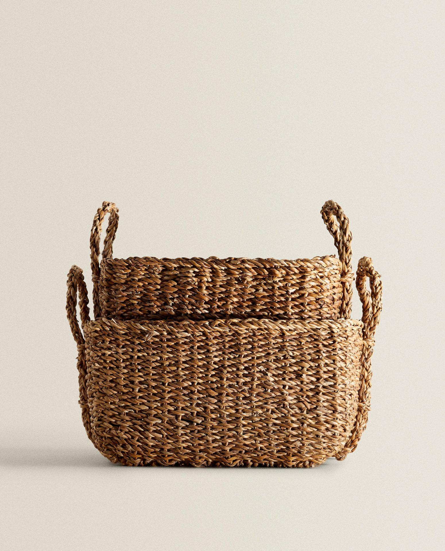 Basket with handles, $40, zarahome.com