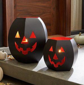 Pumpkin Lanterns, $40, crateandbarrel.com