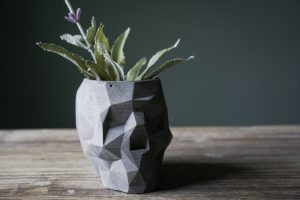 Concrete Skull Planter, $22, etsy.com