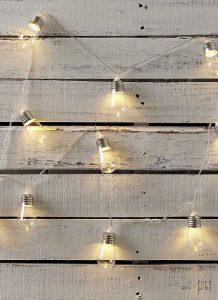 Simons edison bulb string lights, $14, simons.ca