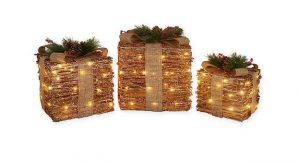 LED Decorative Ruby Rattan Gift Boxes, $90, bedbathandbeyond.ca