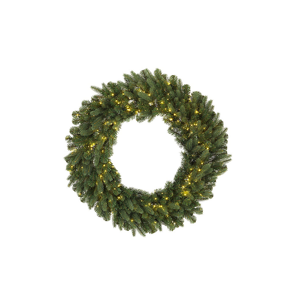500-Light Warm White LED Twinkle Christmas Wreath, $100, homedepot.ca