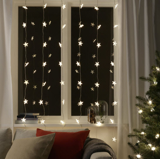 LED string light curtain, $35, ikea.com