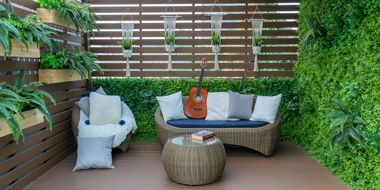Trends this year are leaning toward utilizing small spaces, working toward a sustainable future, and creating backyard oases that provide us a getaway and a chance to reconnect with nature.